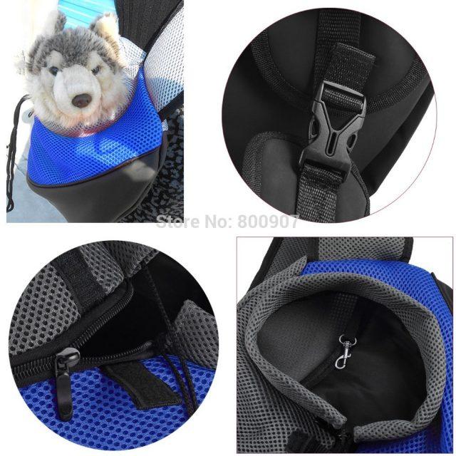 Colorful Travel Backpack with Adjustable Shoulder Straps for little Pets
